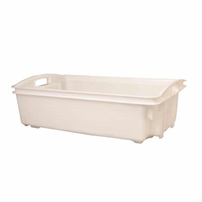 Clear White Fish Crate 35 Litre